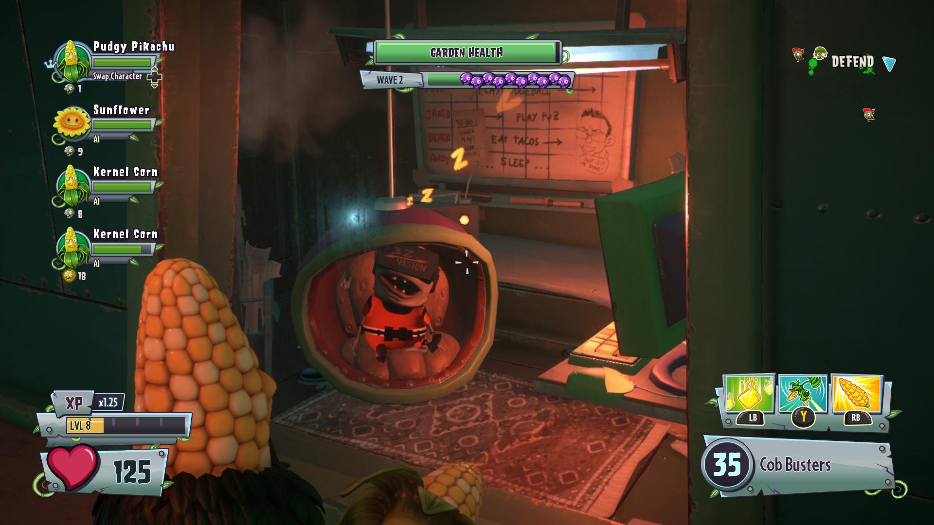 Pudgy Pikachu\'s Xbox Plants vs. Zombies Garden Warfare 2 gameplay ...